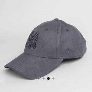 307a90986ef ASOS Accessories - New Era Suede 9 Forty Cap in Gray